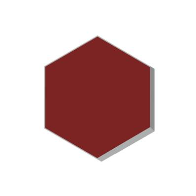 HEXAGONE ROUGE ANCIEN 15X15 EP16