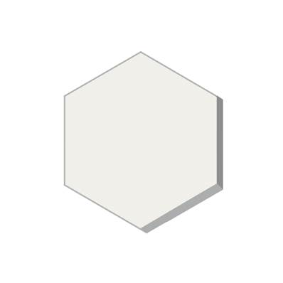 HEXAGONE BLANC 15 X 15 EP16