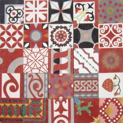 PATCHWORK ROUGE 20X20 EP16 - 5m²
