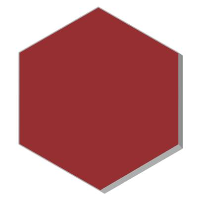 HEXAGONE UNIS ROUGE 25X25 EP18 U2